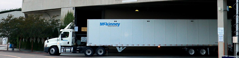 Mckinney truck under the overpass